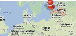 Waar ligt Letland
